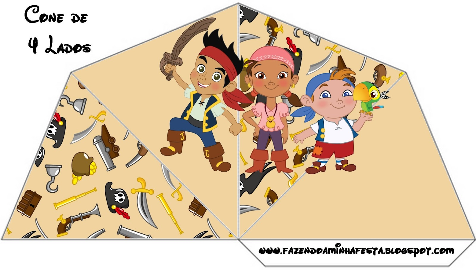 Jake and the neverland pirate party favors