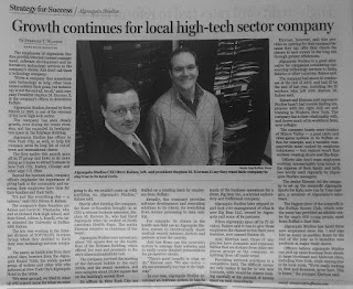 Photo of article in the paper.