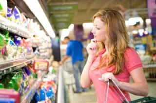 el shopper en el acto de compra