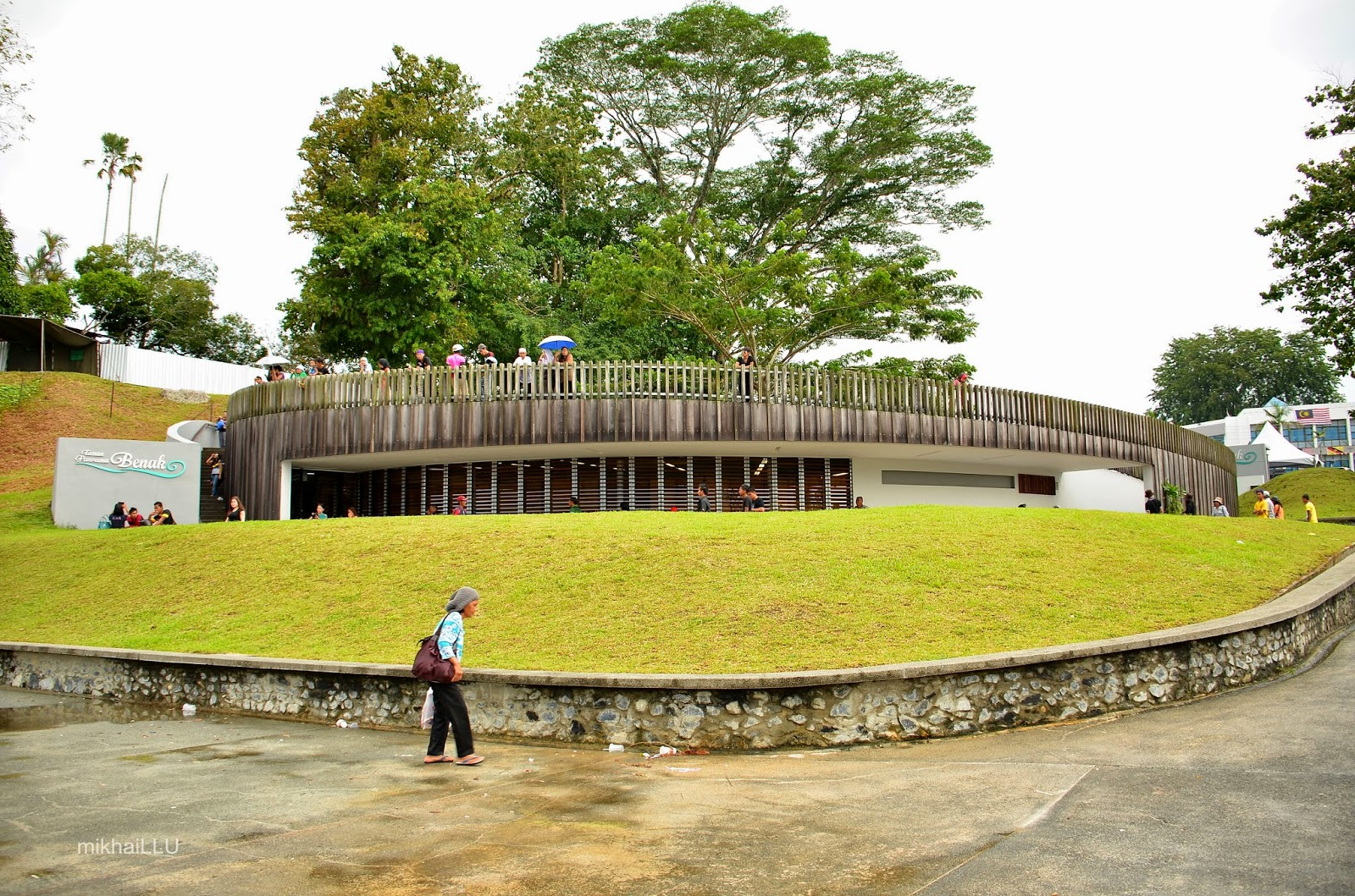 The front view of the Tidal Bore Observatory aka Taman Panorama Benak | mikhaiLLU