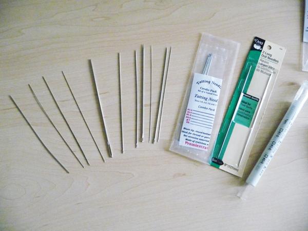 Игла для вязания фриволите 680