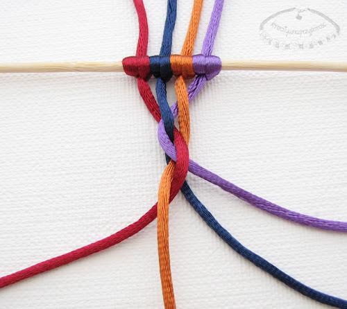 warkocz z czterech sznurków 8