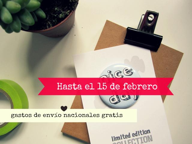 handmade button illustration Srta Malasuerte