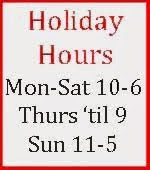 Vintages Holiday Hours