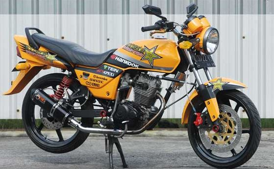 Honda Megapro Cool Stiker Modification