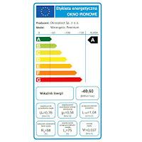 Etykieta energetyczna dla okna Oknoplast