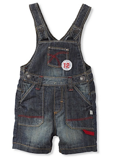 MyHabit: Save Up to 60% off Kanz for Baby Boys: Short Overalls: Dark washed denim with light sandblasting, 3 front and 2 back patch pockets, snap-closure straps