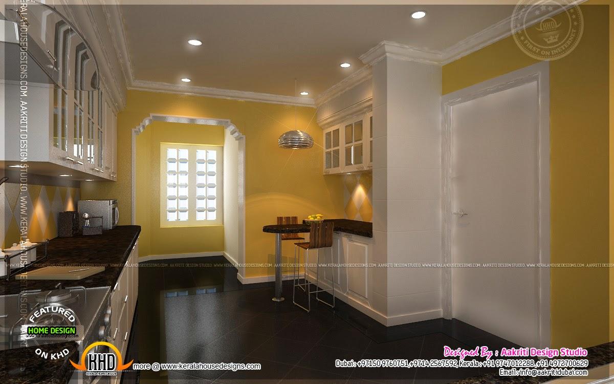 Kitchen designs by aakriti design studio home kerala plans for Kitchen designs dubai