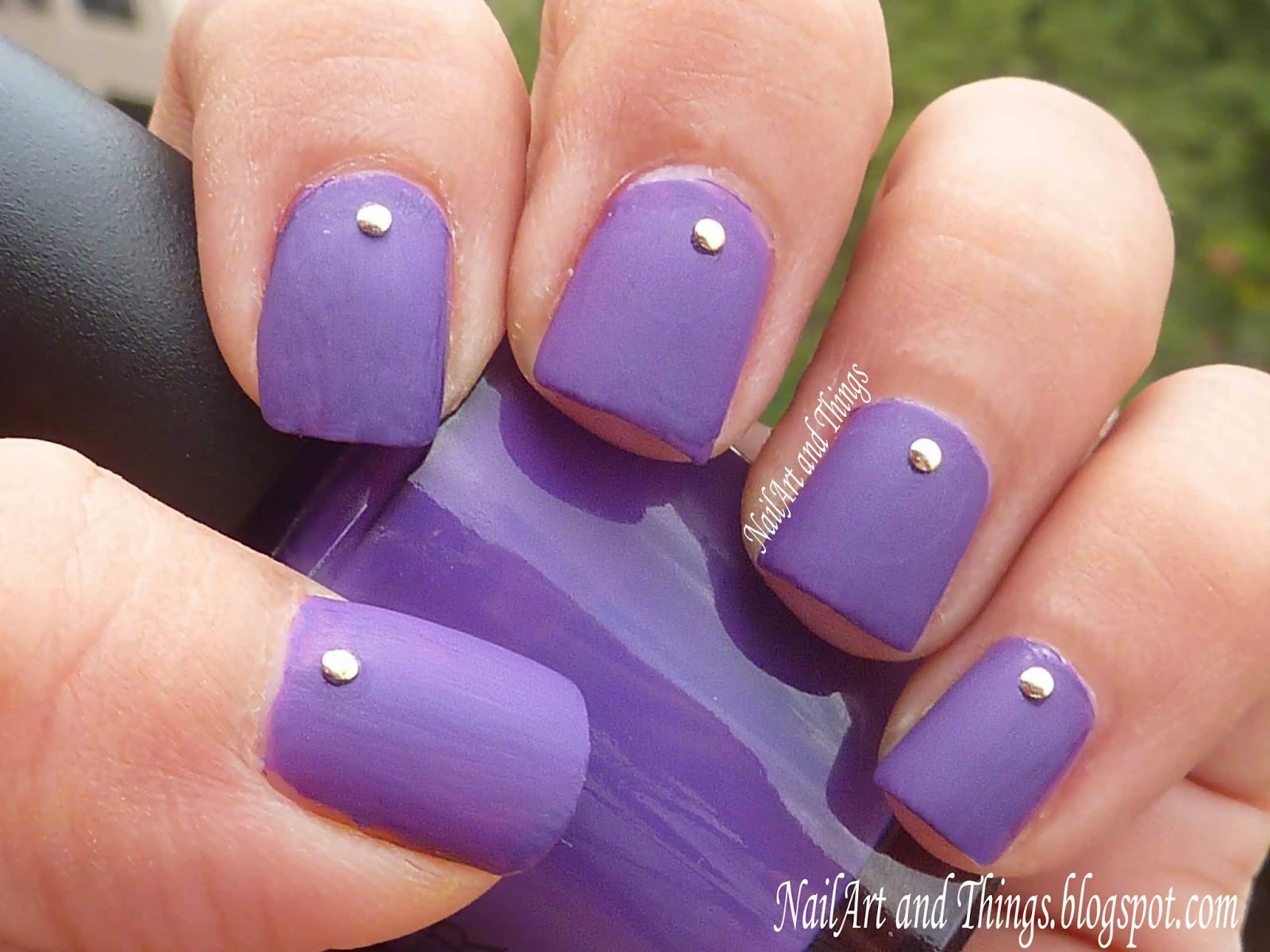 NailArt And Things Simply Studded Simple Nail Art