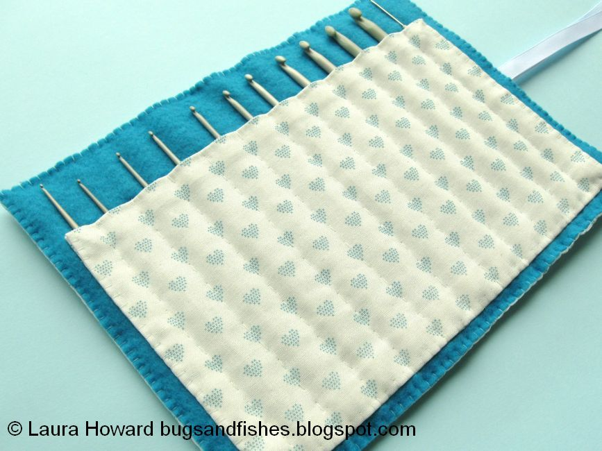 Bugs and Fishes by Lupin: How To: Sew A Crochet Hook Roll