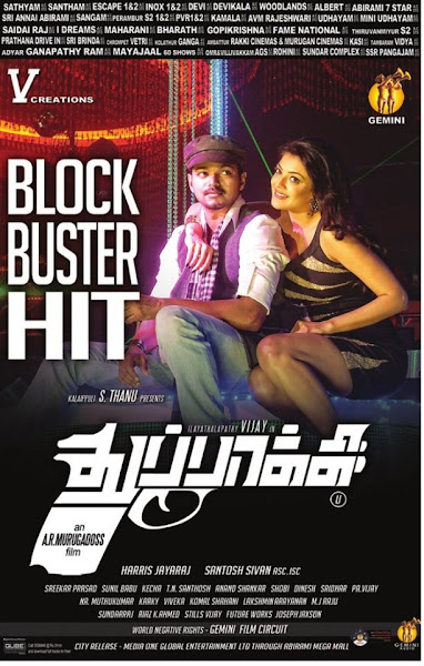Poster of Thuppakki 2012 720p Tamil BRRip Dual Audio Full Movie