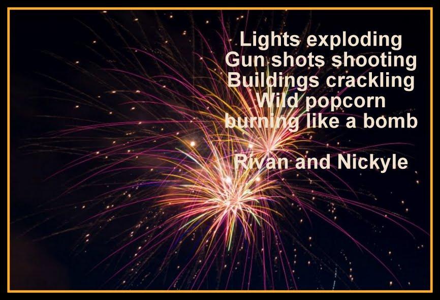 Mrs. Whillier's Wonder kids!: Firework poems
