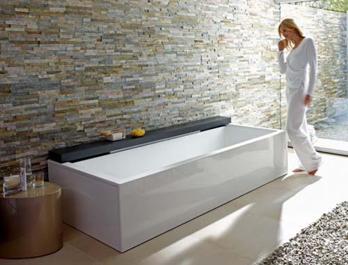 Baños Con Tina De Cemento:Baños: Tina de flotación muy moderna de Duravit