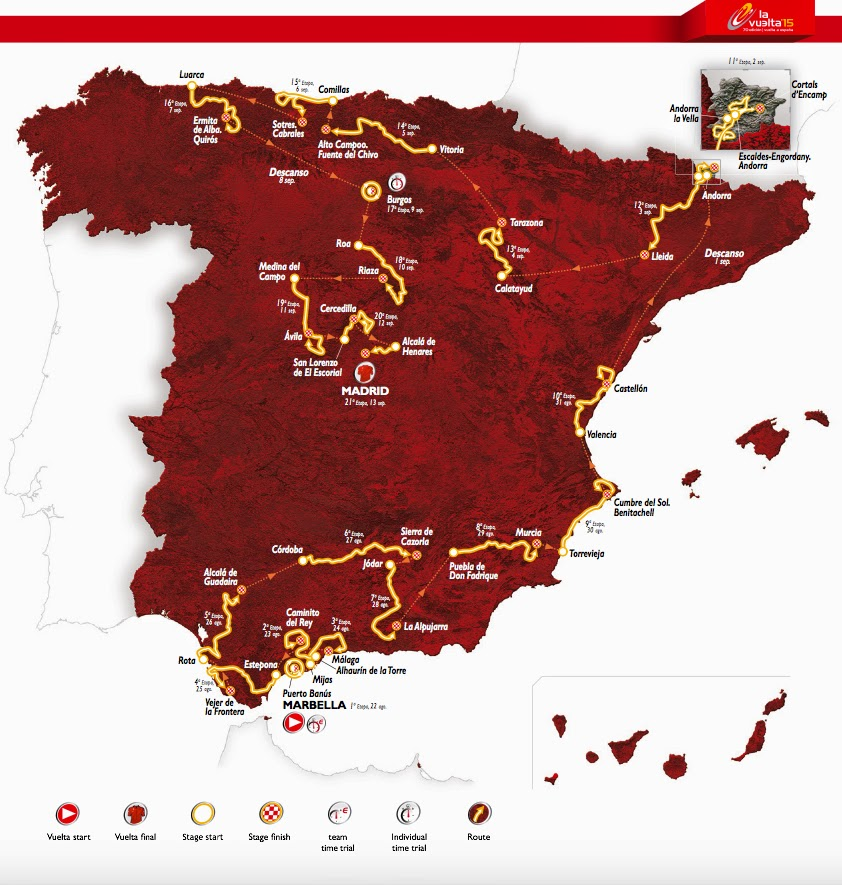 2015 route of Vuelta a Espana
