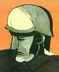soldier's helmet optical illusion