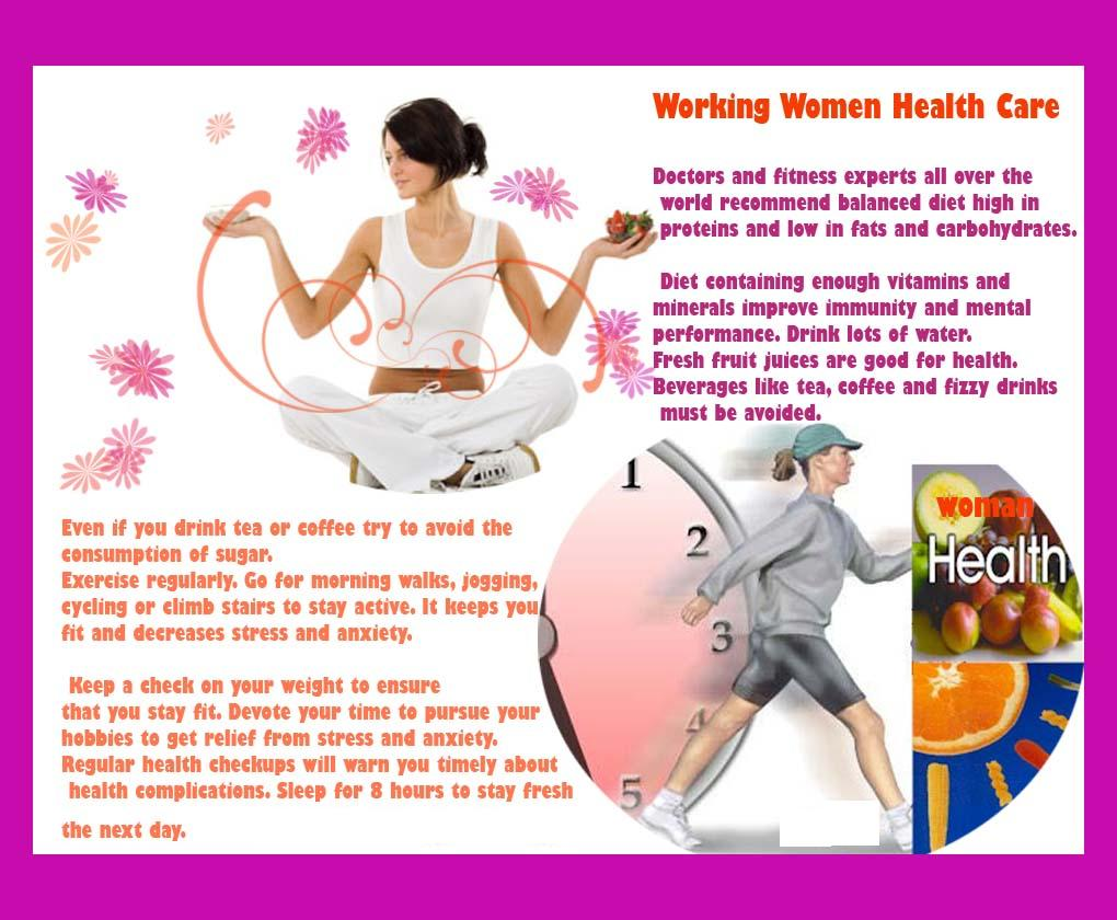 Working Women Health Care Tips  Health  Tips