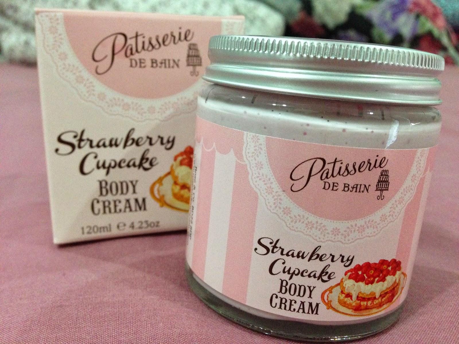 Rose & Co. Patisserie De Bain Body Cream in Strawberry Cupcake
