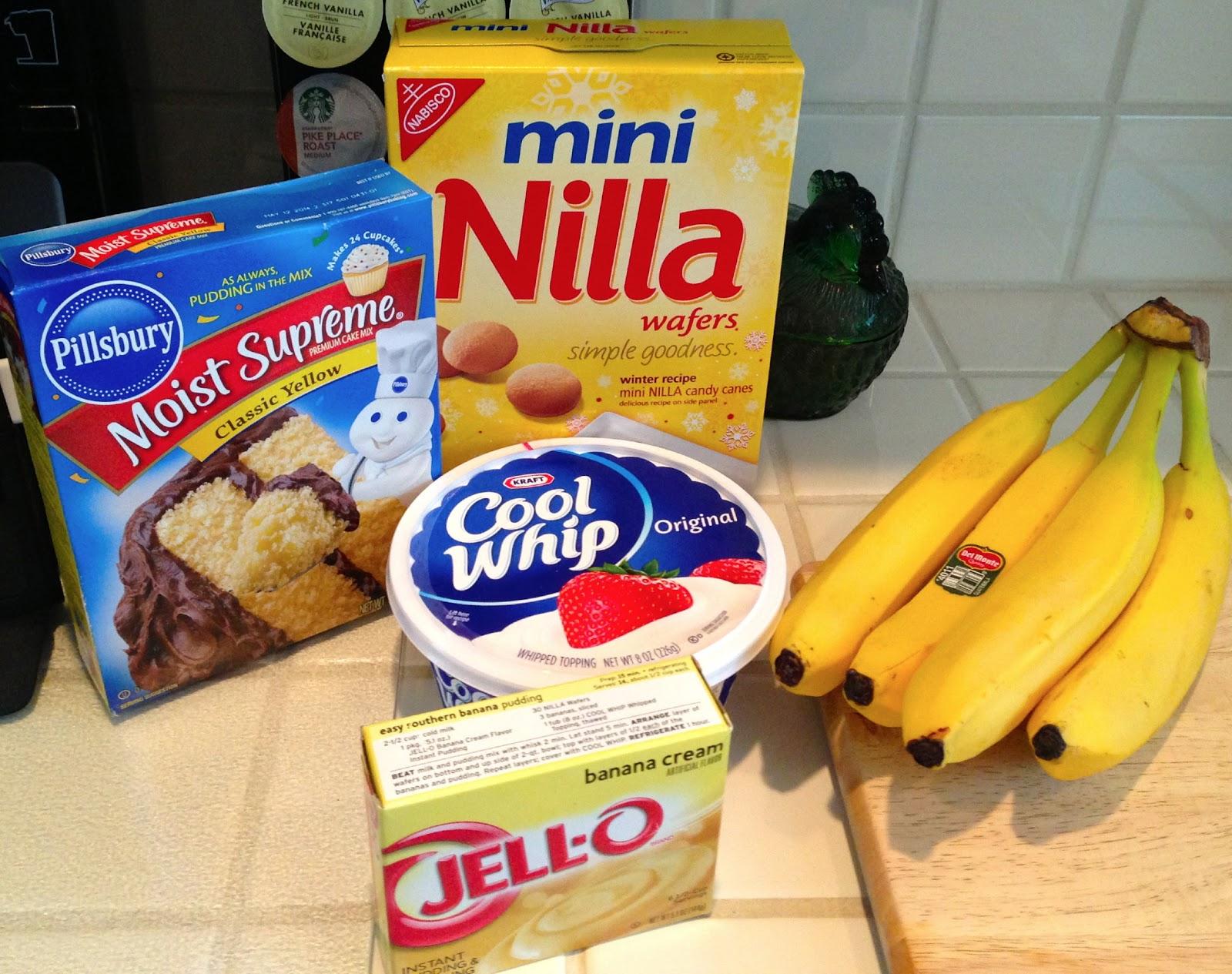 WildWSS: Banana Cream Nilla Wafer Poke Cake