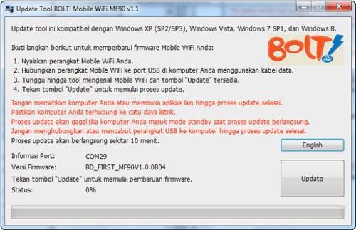 Cara Update Firmware BOLT! 4G Mifi ZTE MF90 3