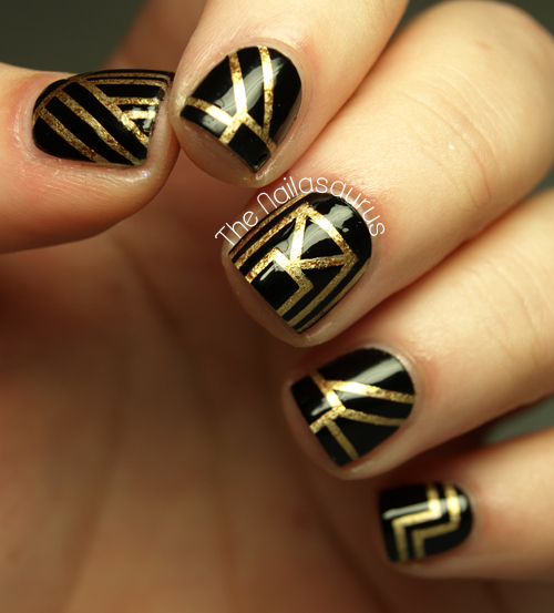The Great Gatsby Inspired Nail Art The Nailasaurus Uk Nail Art Blog