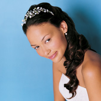 black bridal hairstyles long