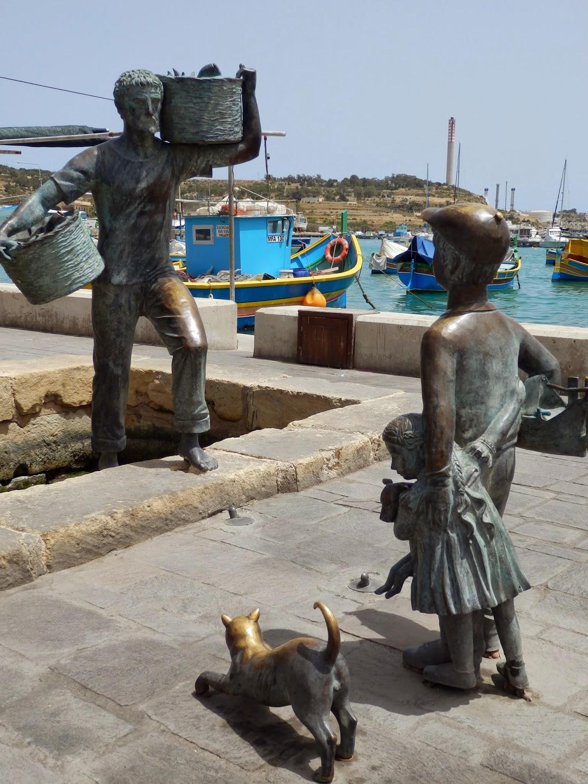 Fisherman statue, Marsaxlokk