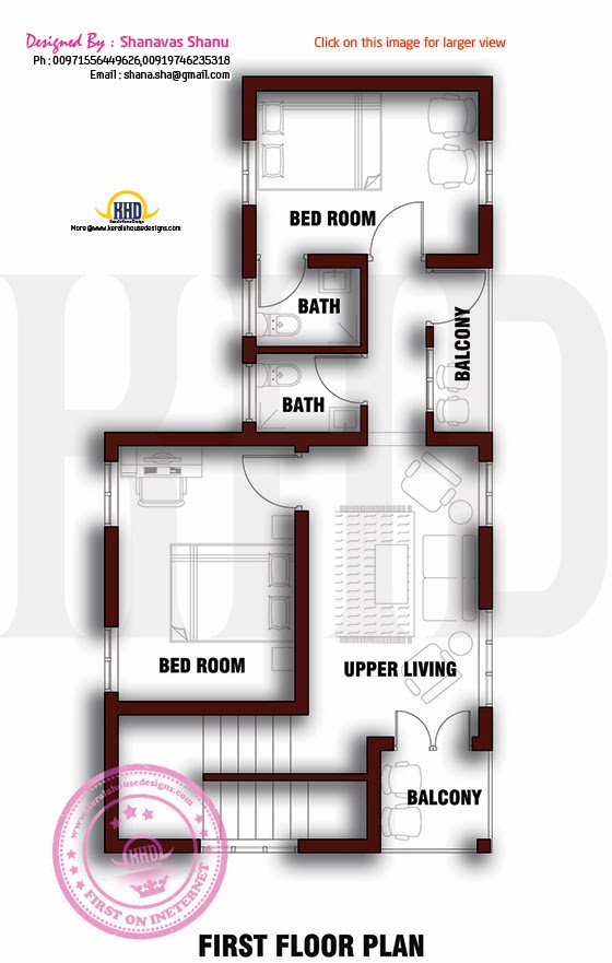Small plot villa in cents of land indian house plans for Small villa design plan