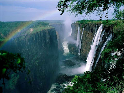 The Victoria Falls, the world's largest water fall
