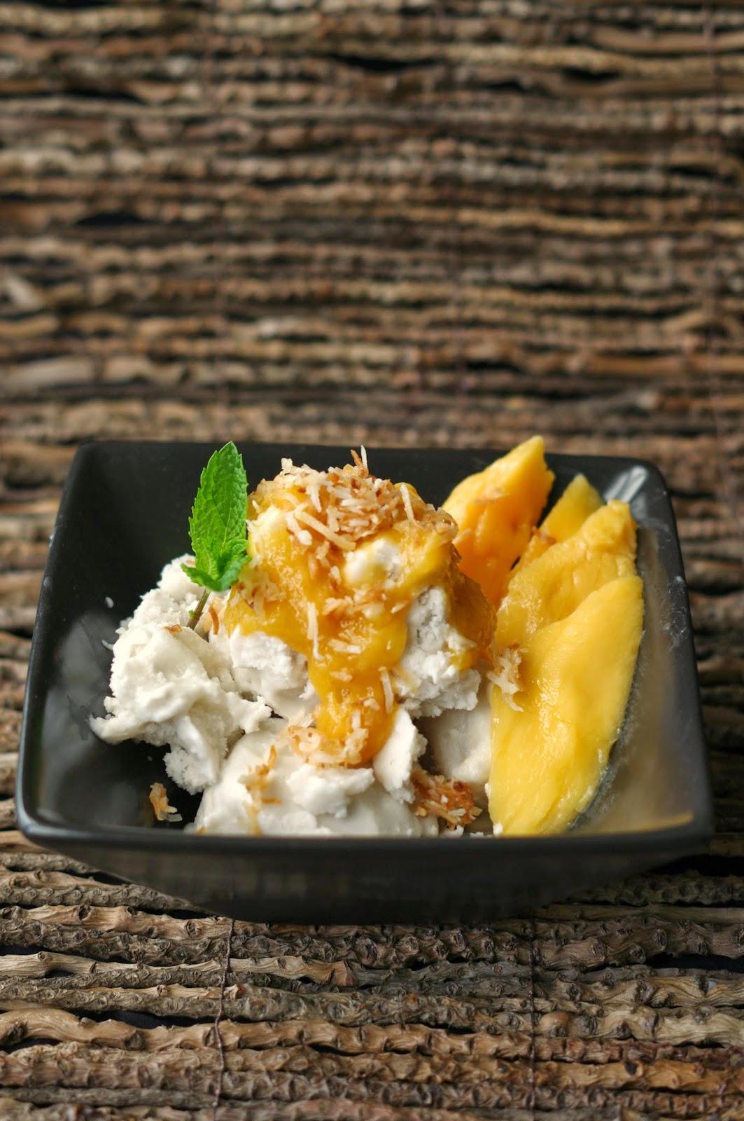 Coconut Gelato and Mango