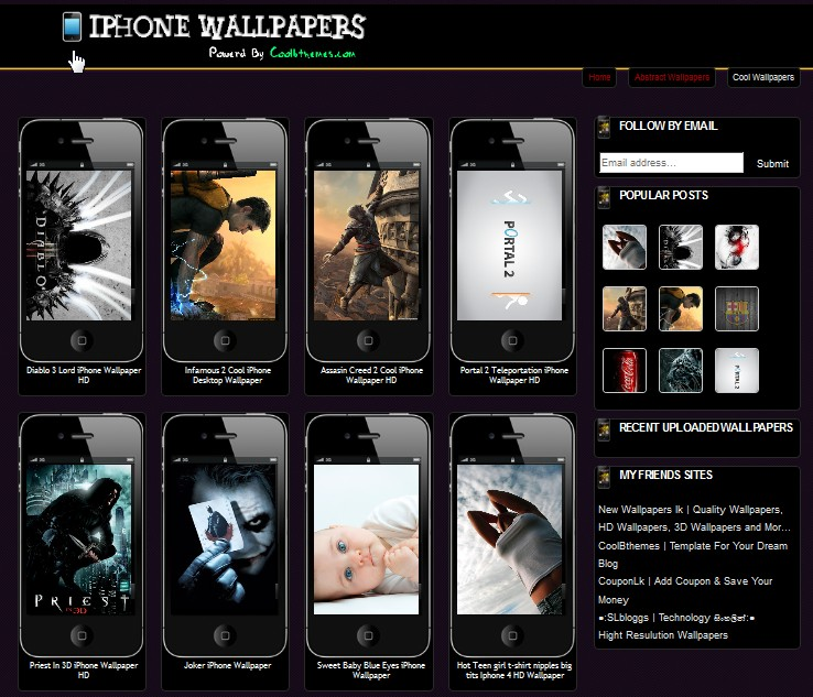 Iphone Wallpapers Blogspot Template Collection