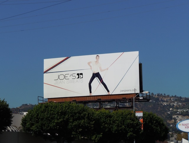 Joe's Jean sweats billboard
