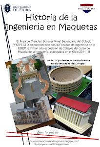 Afiche de propaganda a la Expo de Maquetas de Historia de la Ingeniería