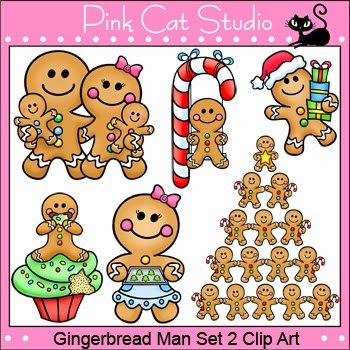 http://www.teacherspayteachers.com/Product/Christmas-Gingerbread-Man-Clip-Art-Personal-or-Commercial-Use-442216