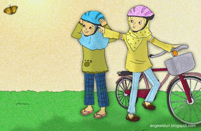 sepeda-kartun