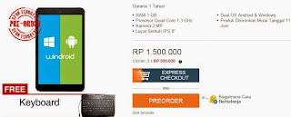 Promo Axioo Windroid 8G Rp 1.500.000