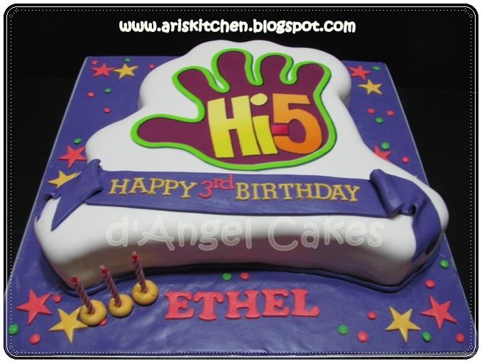 Dangel Cakes Hi 5 Cake Theme For Ethel