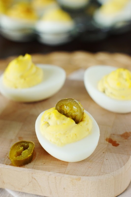 Deviled Egg Garnishes ~ Pickled Jalapeno