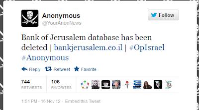 Anonymous Take Down Lebih Dari 650 Situs Israel