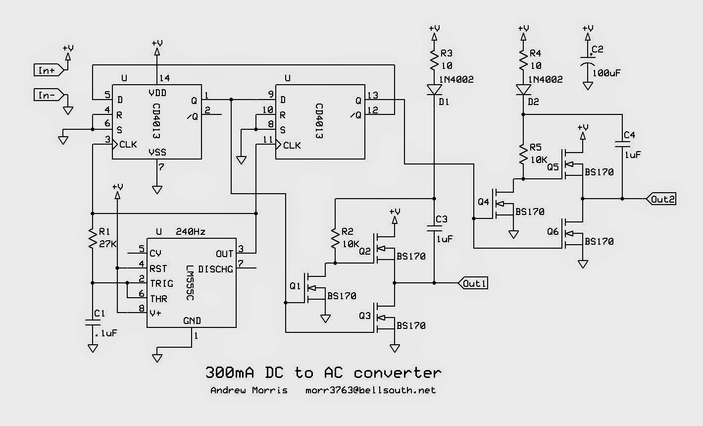 dc ac converter circuit diagram basic wiring diagram u2022 rh rnetcomputer co