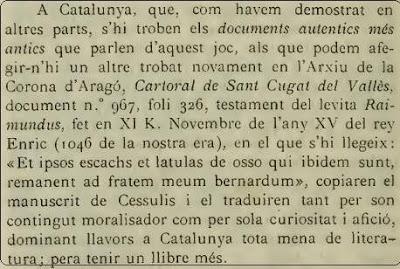 Notas sobre Jacobus de Cessulis escrita por Brunet