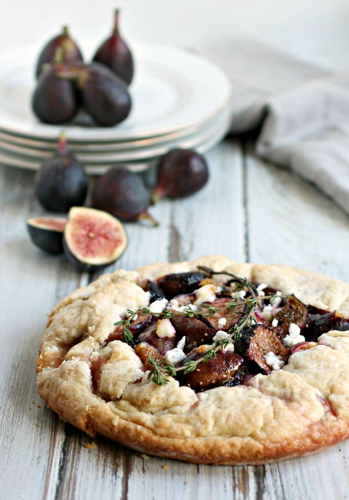 Fig Galette with Goat Cheese and Thyme