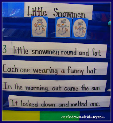photo of: Anchor Chart for Early Math: Melting Snowmen