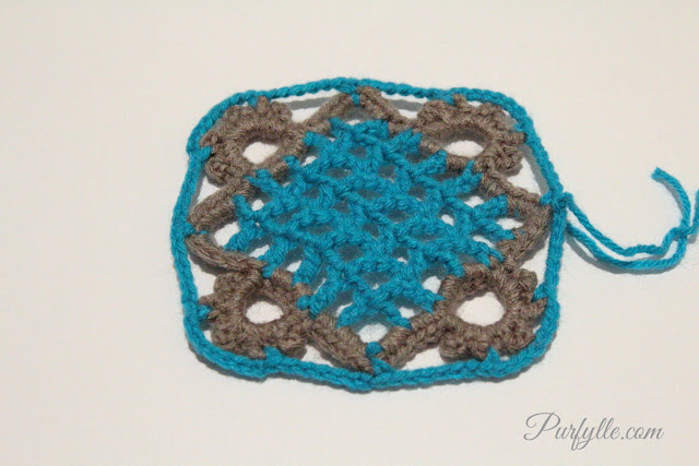Eivor's Crochet Granny Square Tutorial - Row 9