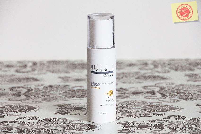 Fluido Protetor Facial Ultraleve Tonalizante FPS 60 (claro/médio) – Natura Chronos