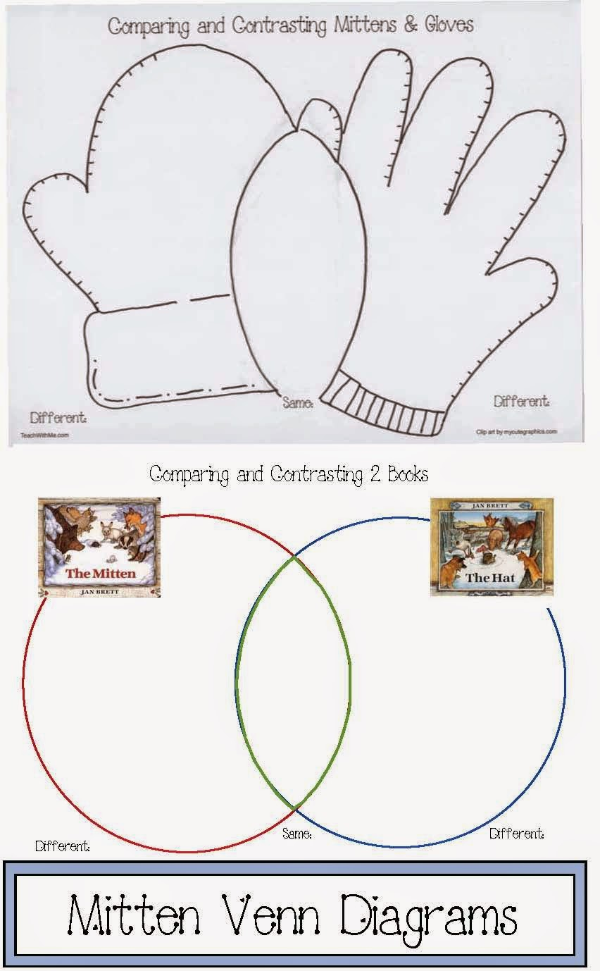 Classroom freebies mitten venn diagrams venn diagrams are a quick easy and fun way to introduce students to the concept of comparison contrast writing pooptronica