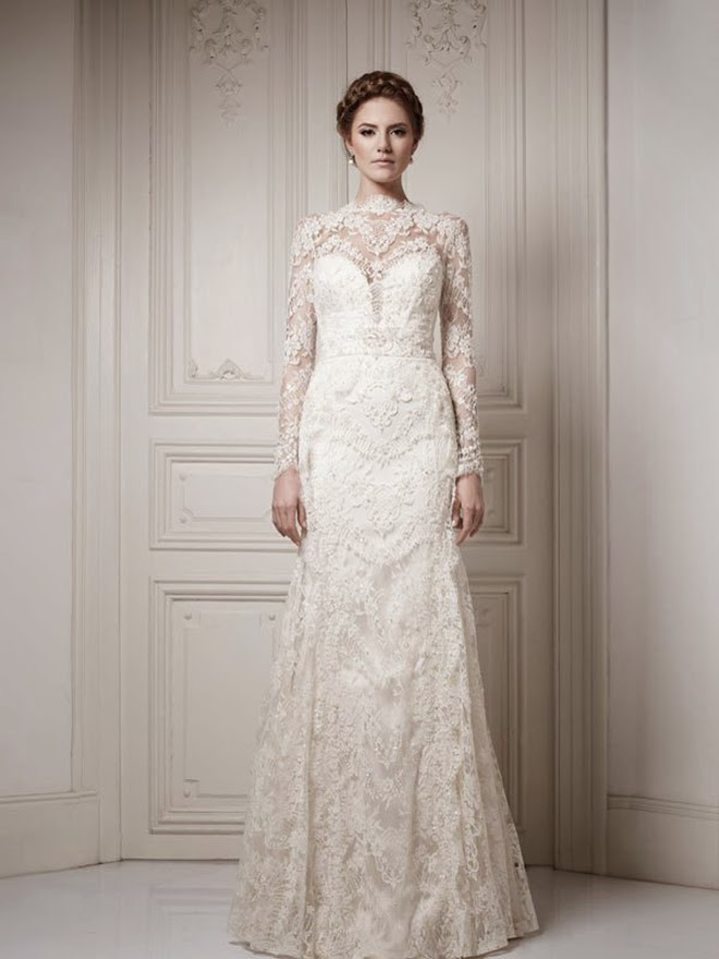 Do you dream of wearing a long sleeve wedding dress on your big day? Shop David's Bridal wide variety of wedding gowns with sleeves in lace & other designs! Wedding Dresses with Long Sleeves Product List. 1 David's Bridal Collection. 3/4 Sleeve Wedding Dress with Lace and Tulle Skirt. WG