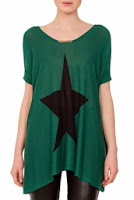 Bluza verde cu imprimeu stea model DonaKyros