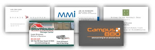 Business cards printed by Wilson Printing