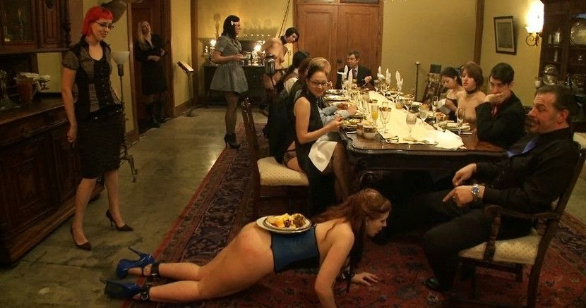 BDSM Holiday Dinner with Friends
