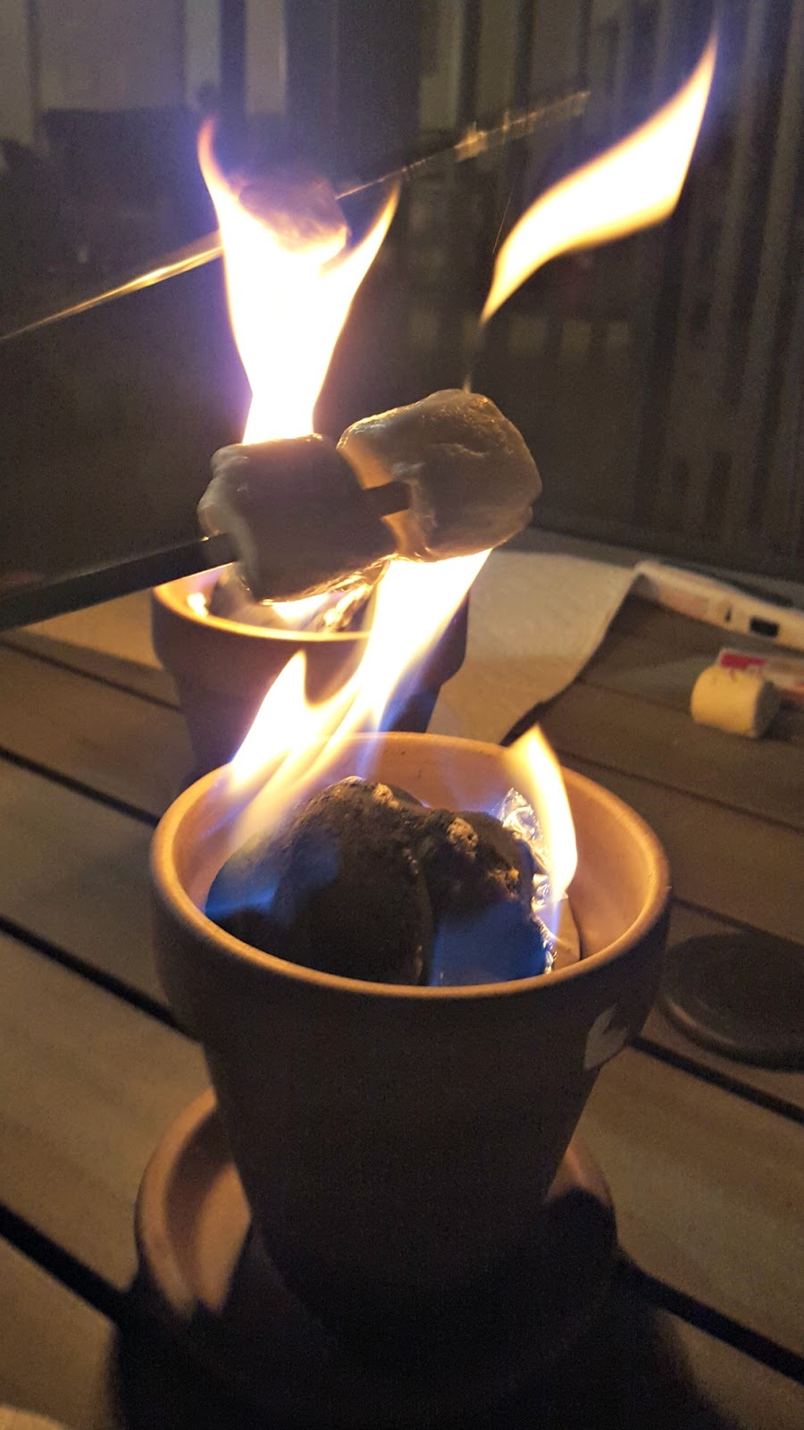Date night smores with firepots enduring all things i decided to name the smores pots firepots like a fire pit but a pot instead dont you think it fits publicscrutiny Gallery